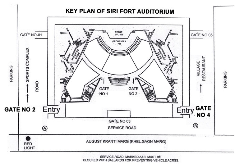 Auditorium Key plan
